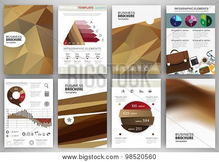 Beige Backgrounds And Abstract Concept Infographics And Icons