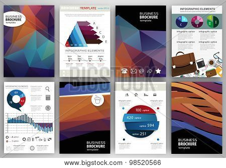 Abstract Backgrounds And Concept Infographics And Icons
