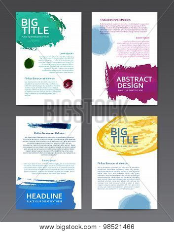 Design templates with watercolor
