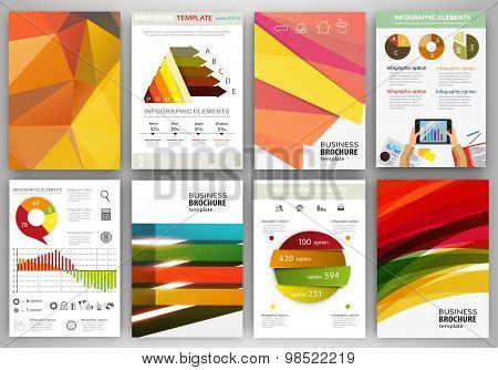 Bright Backgrounds And Abstract Concept Infographics And Icons