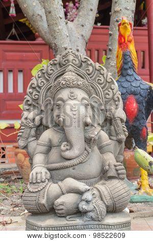 stone carving for Hindu god Ganesha