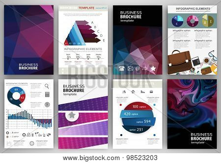 Abstract Purple Backgrounds And Concept Infographics And Icons