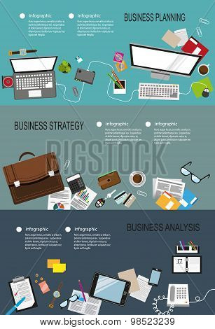 Business Infographic Backgrounds