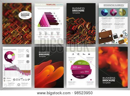 Geometric And Abstract Backgrounds, Concept Infographics And Icons