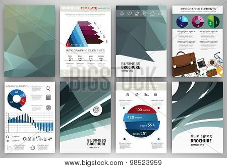 Business Backgrounds And Abstract Concept Infographics And Icons