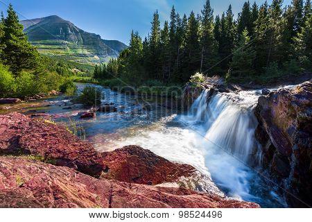 Early Morning At Red Rocks Falls