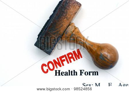 Health Form Confirm