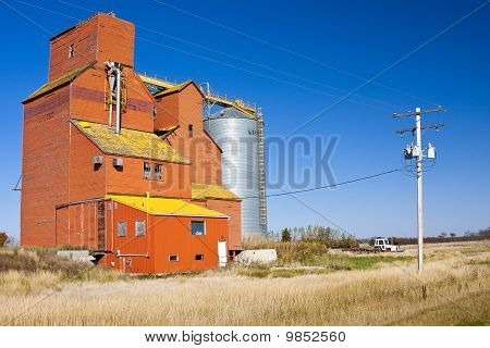 Orange Grain Elevator