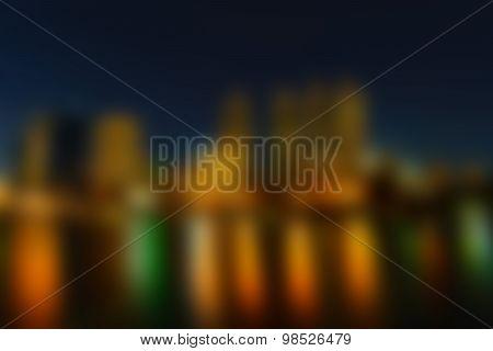 Blurred Bangkok Night