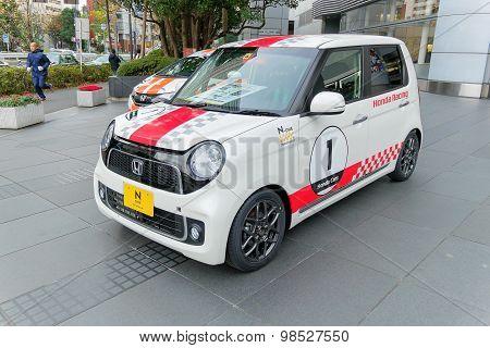 Tokyo, Japan. 10 December 2014 - Honda N1 Showcase In Front Of Honda Office Of Tokyo.