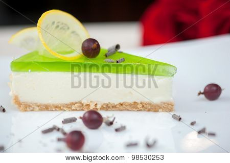 Cheesecake With Green Jelly