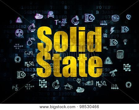 Science concept: Solid State on Digital background