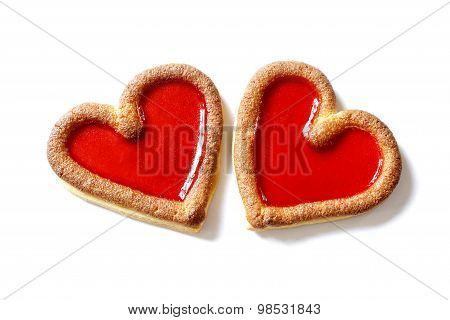 Two Red Hearts Beating Together