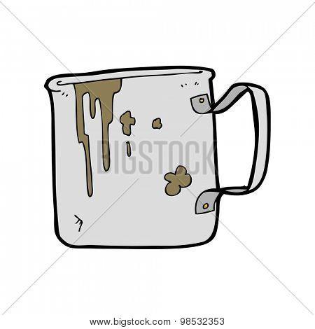 cartoon old tin cup