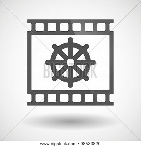 Photographic Film Icon With A Dharma Chakra Sign
