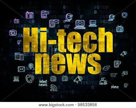 News concept: Hi-tech News on Digital background