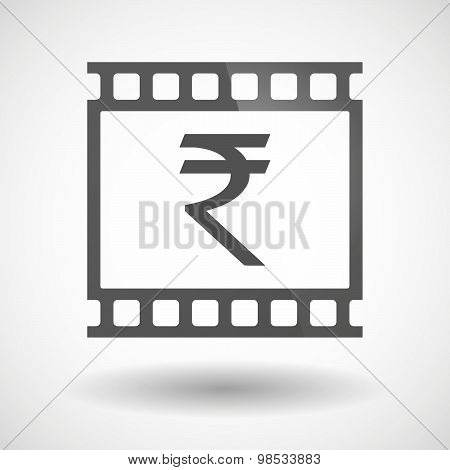 Photographic Film Icon With A Rupee Sign