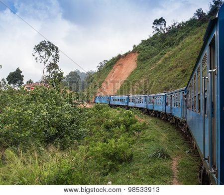 railway tracks in a rural scene
