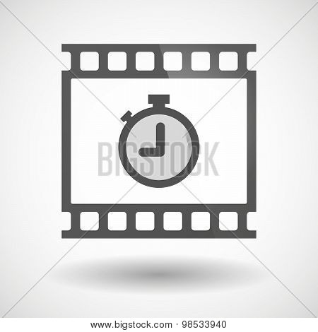 Photographic Film Icon With A Timer