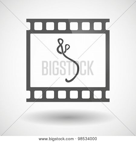 Photographic Film Icon With  An Ebola Sign