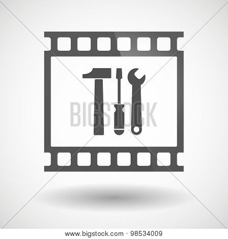Photographic Film Icon With A Tool Set