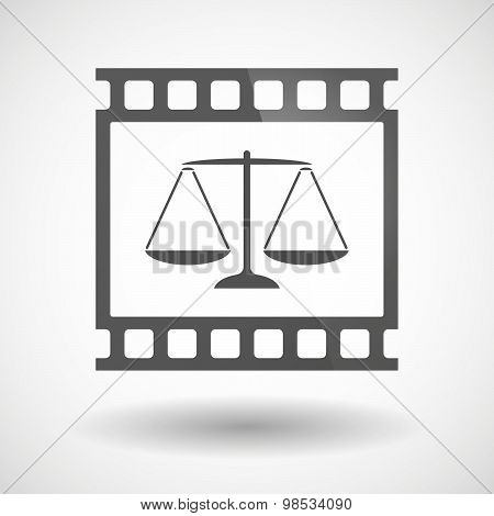 Photographic Film Icon With A Justice Weight Scale Sign