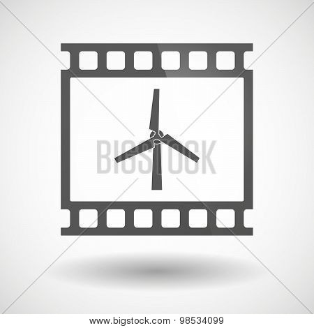 Photographic Film Icon With A Fuel Drop