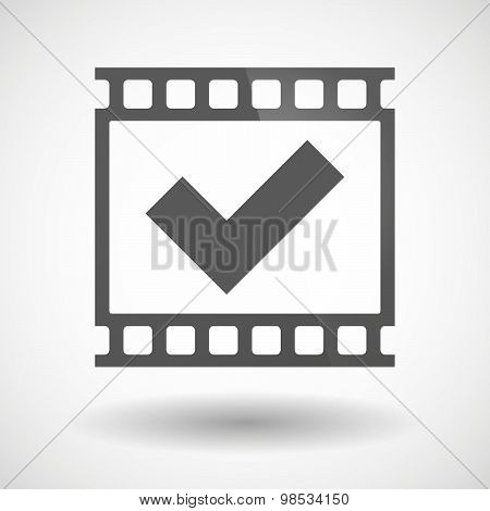 Photographic Film Icon With A Check Mark