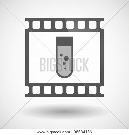 Photographic Film Icon With A Chemical Test Tube