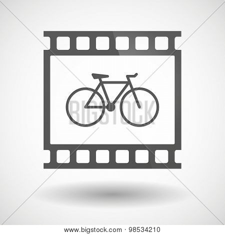 Photographic Film Icon With A Bicycle
