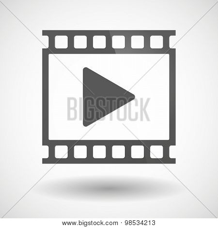 Photographic Film Icon With A Play Sign