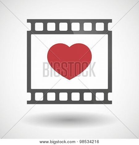 Photographic Film Icon With A Heart