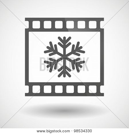 Photographic Film Icon With A Snow Flake