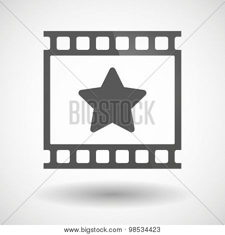 Photographic Film Icon With A Star