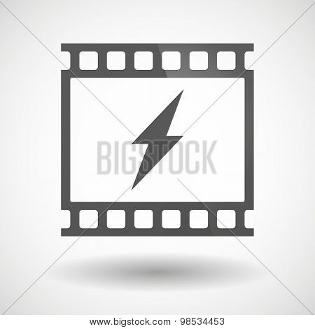 Photographic Film Icon With A Lightning
