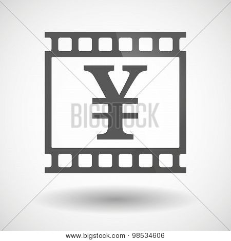 Photographic Film Icon With A Yen Sign
