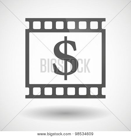 Photographic Film Icon With A Dollar Sign