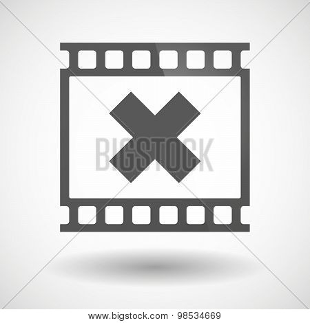 Photographic Film Icon With An X Sign