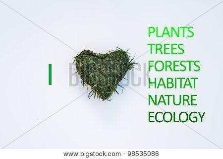 I Love / Heart Plants, Trees, Forests, Habitat, Nature, Ecology