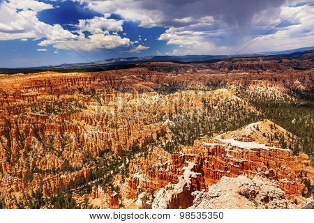 Storm Coming Amphitheater Hoodoos Bryce Point Bryce Canyon National Park Utah