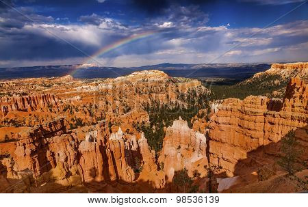 Rainbow Storm Amphitheater Hoodoos Bryce Point Bryce Canyon National Park Utah