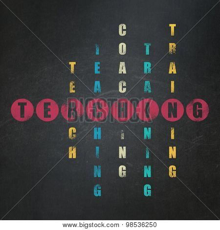 Learning concept: word Teaching in solving Crossword Puzzle