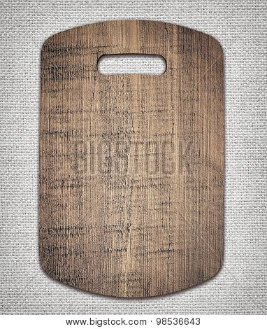 Old cutting board used for cooking. Wood texture.