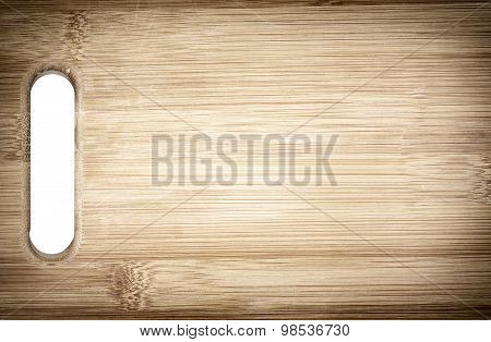 Cutting bamboo board used for cooking. Wood texture