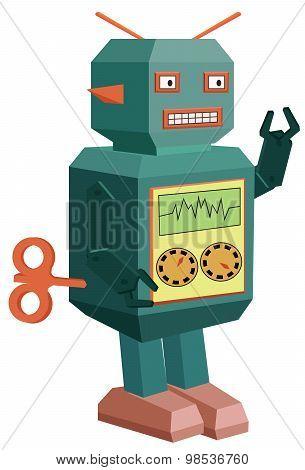 Vector robot toy