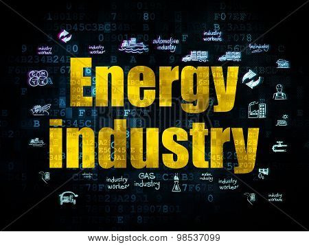 Industry concept: Energy Industry on Digital background