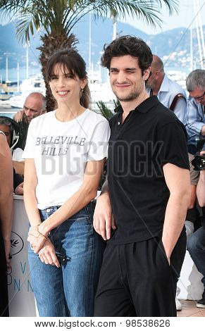 Maiwenn Le Besco and Louis Garrel attend the 'Mon Roi' photocall during the 68th annual Cannes Film Festival on May 17, 2015 in Cannes, France.