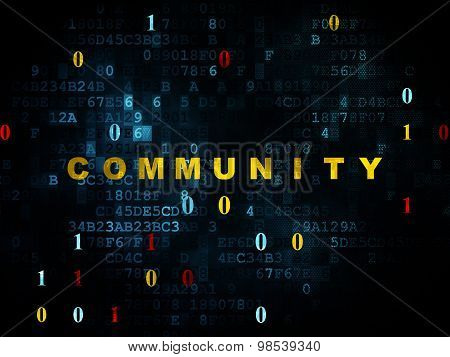 Social media concept: Community on Digital background