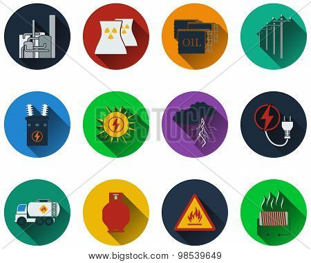 Set Of Energy Icons