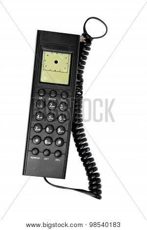 Black wire telephone